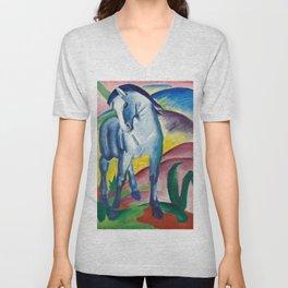 Franz Marc - Blue Horse I Unisex V-Neck