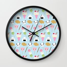 Japanese Kawaii Snacks Wall Clock