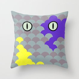 Chesire Scales - Cat Eye - Wonderland Throw Pillow