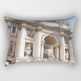 trevi fountain in rome Rectangular Pillow