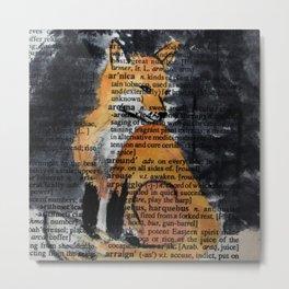 Foxy Gaze Metal Print
