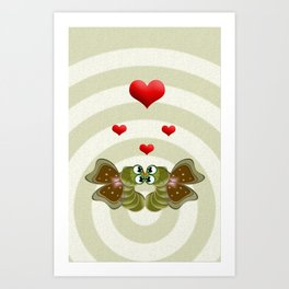 Caterpillars's Love Art Print