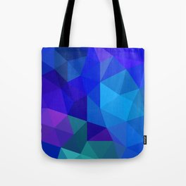 Sapphire Low Poly Tote Bag