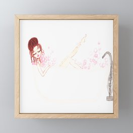 Joy's Bubble Bath Framed Mini Art Print