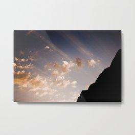 Sunset Behid Damavand Mountain Metal Print