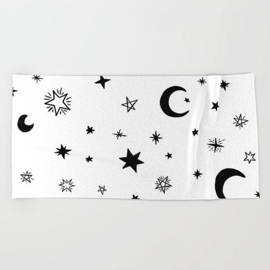 Moons & stars Beach Towel
