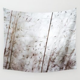 White pampas grass I Wall Tapestry