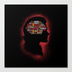 Sam's Phrenology Canvas Print