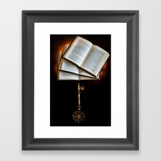The Key to Knowledge Framed Art Print
