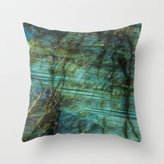 LABRADORITE TEAL Throw Pillow