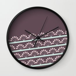 Lacey Peacock Feather Wall Clock