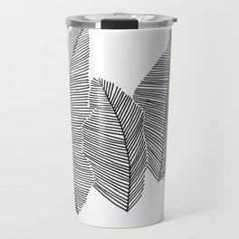 drawn feathers Travel Mug