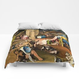 The Garden of Earthly Delights - Bosch - Hell Bird Man Detail Comforters