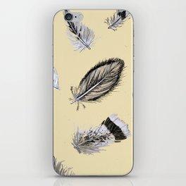 Creamy feathers iPhone Skin