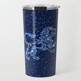 Leo Constellation and Zodiac Sign with Stars Travel Mug