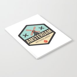 Amsterdam Windmill Badge XXX Notebook