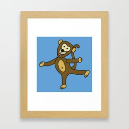 © Little Monkey dancing Framed Art Print