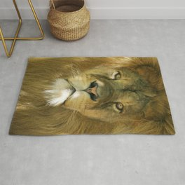 Lion portrait Rug