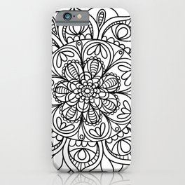 Mandala Black 3 iPhone Case
