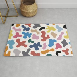 Colorful Organic Shapes Abstract Pattern Rug