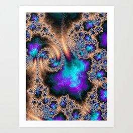 Electric Ocean - Fractal Art Art Print