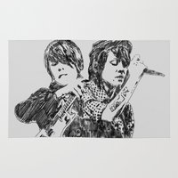 tegan and sara Area & Throw Rugs featuring Tegan & Sara by sostular