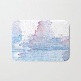 Lavender colorful wash drawing Bath Mat