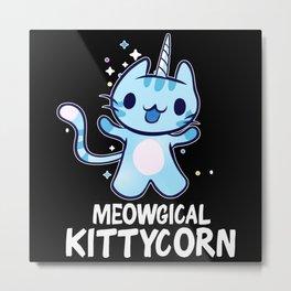 Meowgical Kittycorn Metal Print