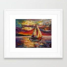 Boat by Kristen Tebow Framed Art Print