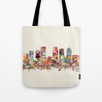 florida Tote Bags featuring tampa florida by bri.buckley