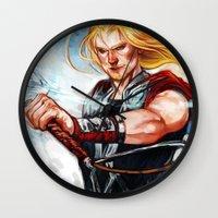thor Wall Clocks featuring Thor by Boisson