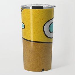 Slightly Amused Monsters, III Yellow Travel Mug