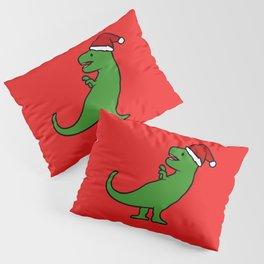 Christmas T-Rex Pillow Sham