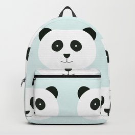 Panda Love- Mint Blue Backpack