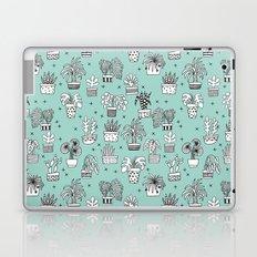 Houseplant minimal illustration drawing pattern by andrea lauren houseplants Laptop & iPad Skin