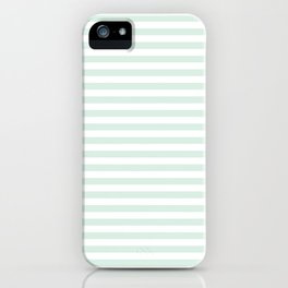 Mint Stripes iPhone Case