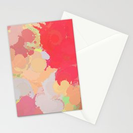 Red abstract splatter Stationery Cards