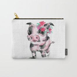 Floral Piglet Carry-All Pouch