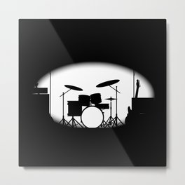 Half Tone Rock Band Poster Metal Print