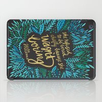 fitzgerald iPad Cases featuring Zelda Fitzgerald – Blue on Black by Cat Coquillette