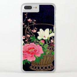 Ohara Koson Flower Basket Clear iPhone Case