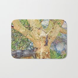 Squirrel Fever Bath Mat