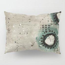 Sepia Circles Right Pillow Sham