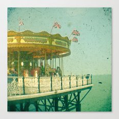 Carousel by the Sea Canvas Print