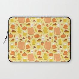 Cozy fall illustration, light yellow Laptop Sleeve