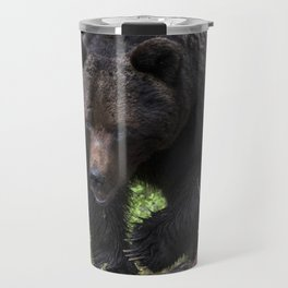 King of forest, male brown bear approaching Travel Mug