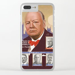 Portrait of Sir Winston Churchill Clear iPhone Case