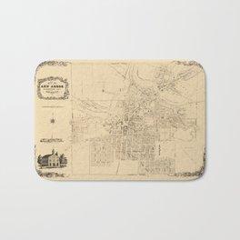 Map Of Ann Arbor 1854 Bath Mat