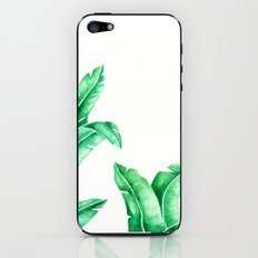 Simple banana leaves iPhone & iPod Skin