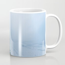 Infinite and minimal black sand beach in Iceland - Landscape Photography Coffee Mug